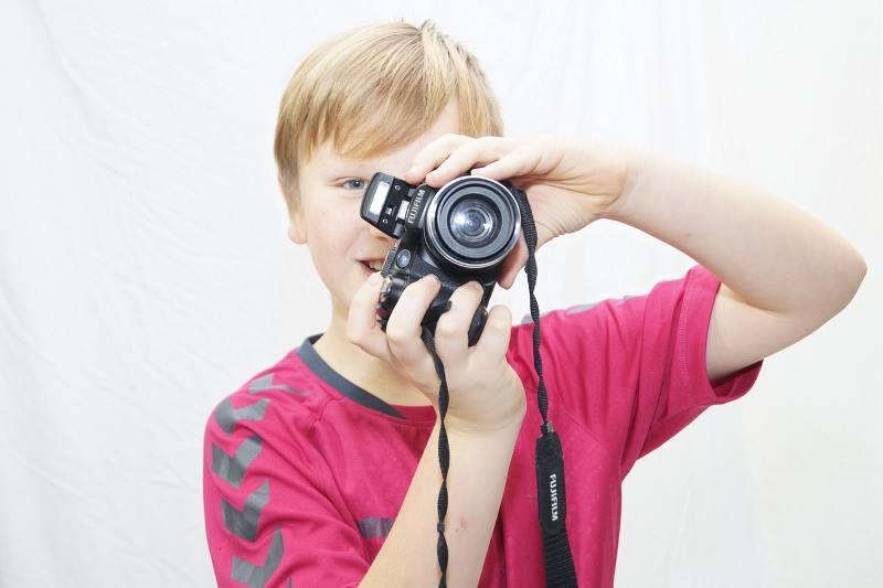 Ragazzo con Fotocamera